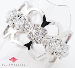 ショーメ オルタンシア エタニティ ダイヤモンド 18金ホワイトゴールド 16号 リング・指輪【中古】