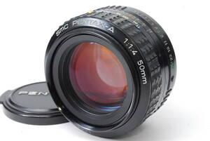 貴重な単焦点レンズ ペンタックス SMC PENTAX-A 50mm F1.4 Kマウント ♯8705