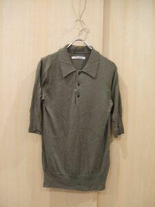 0-0623S♪TOUJOURS/ニットポロシャツ/グレー/五分袖/トゥジュー/BL158137
