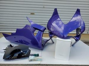 MC22 CBR250RR 才谷屋 カウル アッパーカウル アンダーカウル 紫色 塗装済 片目 耐久 CBR600RR レプリカ サイタニヤ