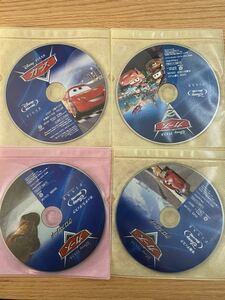 ディズニー  カーズ Blu-ray 不布ケース 4点セット 国内正規品 未再生 ディズニーグッツ サービス中