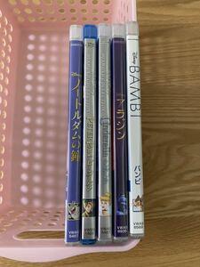 ディズニー  シンデレラ など 純正ケース 付き DVD 5点セット タイトル変更自由 国内正規品 未再生 ディズニーグッツ サービス