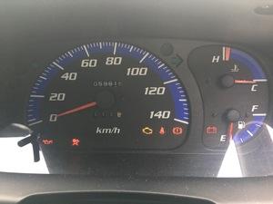 スピードメーター L950S MAX マックス ダイハツ 純正 速度 計 59815km EF-VE マニュアル MT テストOK