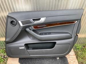 運転席 ドア 内張り GH-4FBDW アウディ A6 パワーウィンドウ ミラー スイッチ 右 前 パネル スピーカー カバー