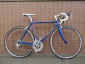 ■DE ROSA COLUMBUS デローザ コロンバス カンパニョーロ VELOCE 20速 ブルー クロモリ ロードバイク 自転車 札幌発