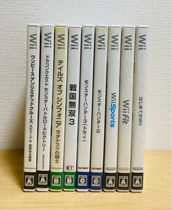 Nintendo Wii ソフト 9本 ゲーム 任天堂 ウィー 中古 まとめ 2