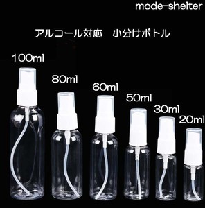 TA302-100即決 新品 アルコール対応 スプレーボトル 次亜塩素酸 アルコール 除菌 スプレー 携帯 携帯用 小分け ボトル 100ml 次亜塩素