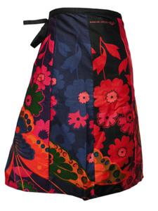 ■☆アジアン衣料 タイコットン・バティック・ミニラップスカート(BSS-10)