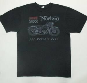 ノートン・モーターサイクル Norton Tシャツ 古着 AMC ノートン・ビリヤーズ・トライアンフ BSA バイク オートバイ ロゴ コマンドー レア