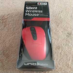 ■UNIQ ワイヤレス光学式マウス[2.4GHz] (ブラック×レッド)BCM318GBR