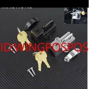 【メット盗難防止】汎用 バイク ヘルメット ロック 鍵 ホンダ XL125V/XL700V/XL1000V/CB500X/CB400F/CRF250/CB1100/ 社外品