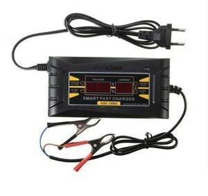 F214 新品 未使用 ポータブル充電器 高品質 12V 6A 自動車LCDデジタルディスプレイスマート PWM バッテリ充電チャージャー 日本プラグ対応