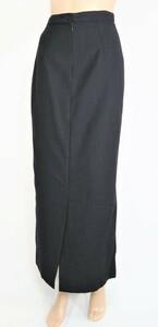 *奉仕新品 バルディーニ BARDINI イタリア製 タイト スカート マキシ丈 バージンウール100% サイズ40(M) (W62)ネイビーLSK164