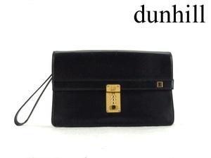 Dunhill ダンヒル レザー セカンドバッグ ブラック