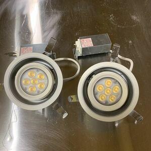 No.600252 Panasonic パナソニック LEDダウンライト 品番NNN21998LE1 LED照明器具 2個セット 2011年製 電球色
