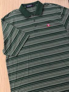 ルコック le coq sportif ルコックスポルティフ 半袖 ポロシャツ メンズ ゴルフウェアー ボーダー