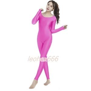 レギンス全身タイツ コスプレ衣装 ハイレグレオタード レースクイーンレオタード ピンク XXXLサイズ