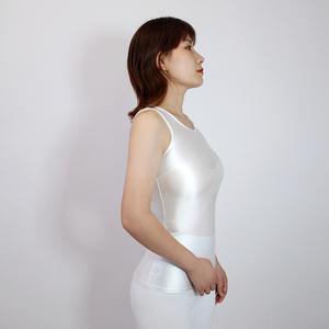 【2020夏最新作】コスプレ衣装 ノースリーブレオタード 伸縮性あり レースクイーンレオタード ホワイト Lサイズ