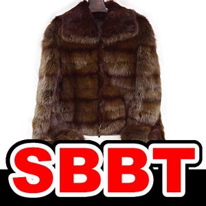 ●【SBBT】 FENDI フェンディ 毛皮 ロシアンセーブル ファーコート ♯40 ショートコート ブラウン 茶 最高峰 ジャケット 本物