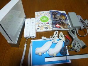 WS071【送料無料】Wii 2人ですぐに遊べるセット はじめてのWii モンスタハンター3(動作良好 クリーニング 初期化済)はじめてセット