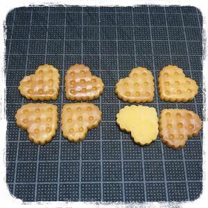 【ハートクッキー 8個】デコパーツ ハンドメイド ミニチュア