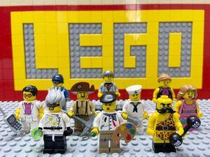 ☆ミニフィギュアシリーズ☆ レゴ ミニフィグ 大量10体 画家 科学者 水兵 ヤッピー など ( LEGO 人形 住民