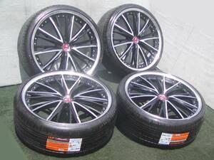 迫力の22インチ! 新品タイヤ weds クレンツェ エルアボラ 9J +36 アルファード ヴェルファイア ハリアー エルグランド RX NX BBS LM