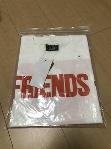 【Mサイズ】vlone FRIENDS long sleeve shirt tee white x orange ヴィーロン 新品 未使用 ロンT Tシャツ 長袖 白 オレンジ pop up 購入