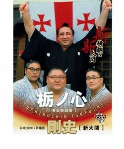 【栃ノ心】2020 BBM 大相撲 「新」 新横綱&新大関 カード #70