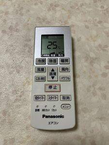 (136) Panasonic パナソニック A75C3777 エアコン用リモコン エアコンリモコン 中古品 赤外線確認済 ☆全国送料一律210円 簡易清掃済♪