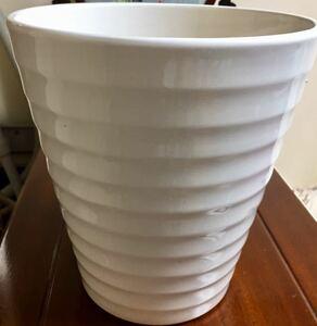 新品未使用陶器植木鉢おしゃれ直径24