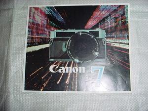 Canon 7 catalog