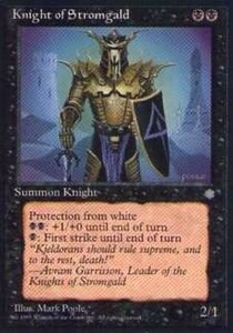 011199-002 IA/ICE ストロームガルドの騎士/Knight of Stromgald 英1枚