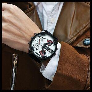 3◆新品・未使用◆◎XINEW(白)腕時計クロノグラフ アンティーク正規品クオーツ金属革ドルチェ&ガッバーナシルバーオセン ゴールド機械式⑧