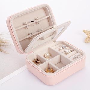 アクセサリーケース 218yxk ピンク 収納ボックス ジュエリーボックス 指輪 ネックレス ピアス収納 小物 ファション 人気