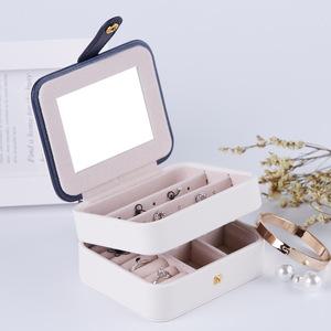 アクセサリーケース 219yxk ネイビー 収納ボックス ジュエリーボックス 指輪 ネックレス ピアス収納 小物 ファション 人気