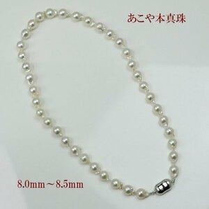 真珠 パール ネックレス あこや真珠 パール ネックレス 8mm-8.5mm バロックパール ホワイトカラー アコヤ本真珠 シルバー