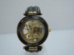 入手困難 Michel Herbelin Newport ミッシェルエルブラン ニューポート スケルトン 手巻き メンズ腕時計