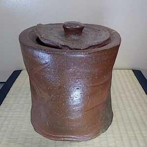 森陶岳作(県重要無形文化財) 備前水指 備前焼 共箱 茶道具 保証品