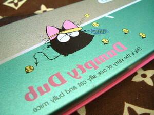 緑銀◆昭和レトロ 廃盤 ペンケース DumptyDub  ねこ ねずみ 缶ペン 筆箱 トンボ鉛筆 1970年代 1980年代 未使用 文房具