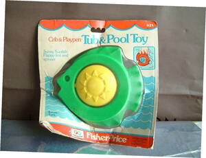 ◆ レトロ POP フィッシャープライス フィッシュ 熱帯魚 風 お風呂 プール おもちゃ 1977年 USA製 レア 未開封 JUNK