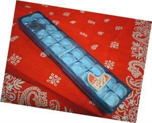 ◆ 昭和 レトロ ヤング ペンケース 筆箱 POP レンズ窓 ブルー 新品 デッドストック 1970年代