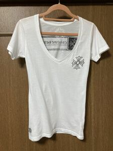 正規品 クロムハーツ CHROME HEARTS Tシャツ 半袖 カットソー / ホワイト 綿100% Sサイズ 本物