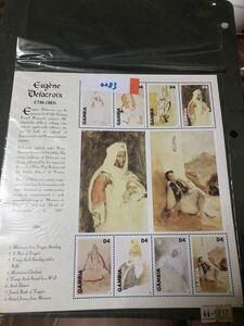 0283 外国切手 ガンビア切手 小型シート 未使用