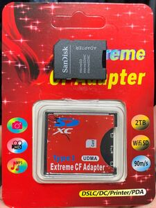 SDカード⇒ CFカード 変換アダプター16gb 32gb 64gb等メモリー