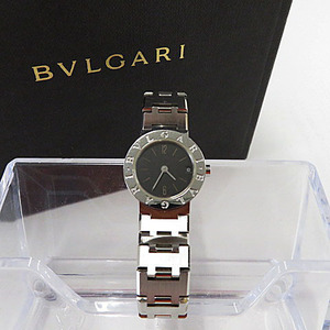 【即決】ブルガリ BVLGARI ブルガリブルガリ BB23SSD 腕時計 クオーツ ブラック文字盤 ステンレススチール レディース 動作確認済 [M1731]
