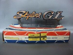 当時物 未使用品 日産 純正 C110 スカイライン ケンメリ バン GL リアサイド エンブレム 旧車