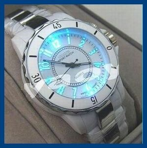 ◎新品・未使用◎白丸腕時計 クロノグラフ アンティーク 正規品 クオーツ 金属 革 ウオッチ ユンハンス シルバー オセン ゴールド機械式⑭