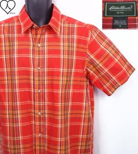 《郵送無料》■Ijinko◆美品◆エディーバウアー Eddie Bauer S サイズ半袖シャツ