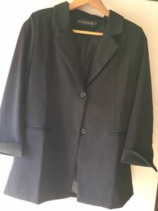 スーツ レディース ジャケット カジュアル フォーマル 着痩せ おしゃれ シンプル お出掛け ブラック Lサイズ